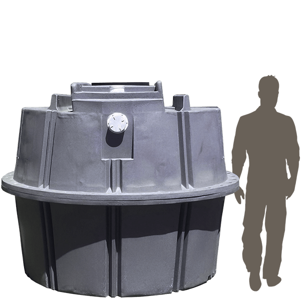 4000 ltr septic tank